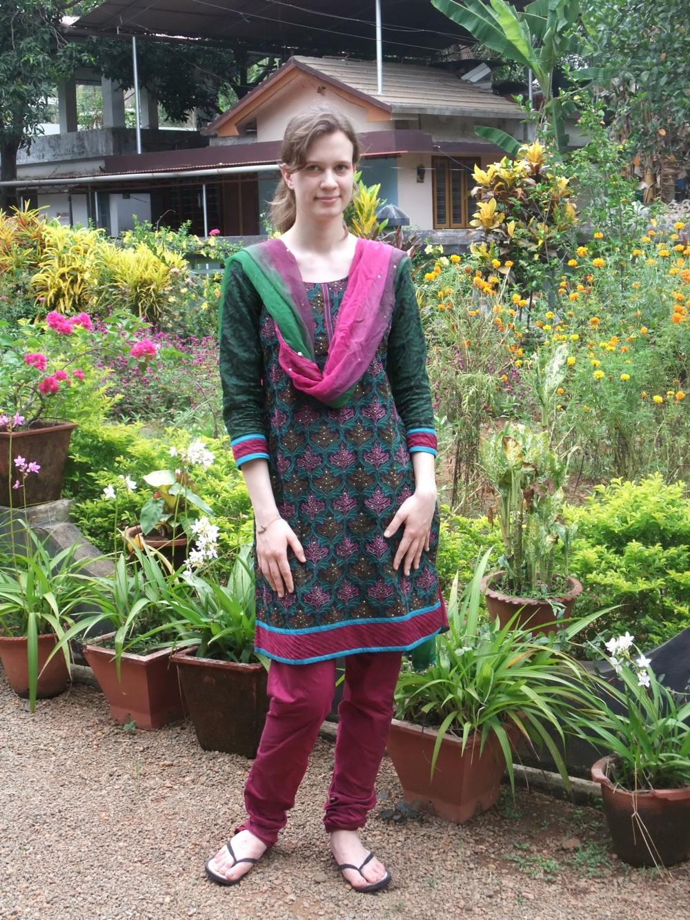 Ich in indischer Kleidung